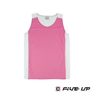 FIVE UP 吸排籃球背心-粉紅