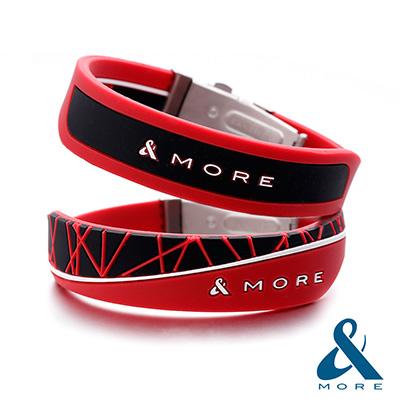 &MORE愛迪莫鈦鍺 X-Force極限 負離子運動手環(生命紅)