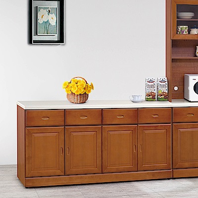 H&D 樟木色5.3尺碗盤櫃 (寬160.2X深43X高85cm)