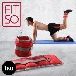【FIT SO】OS1-腿部沙包加重器-1kg(紅灰)