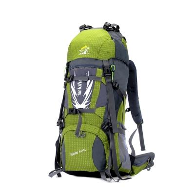 專業網架背包登山包FK627GN綠色60L附雨套