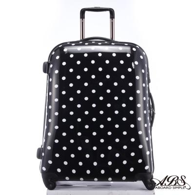 ABS愛貝斯 24吋 日本甜心鏡面亮彩圓點旅行箱(黑)99-032B