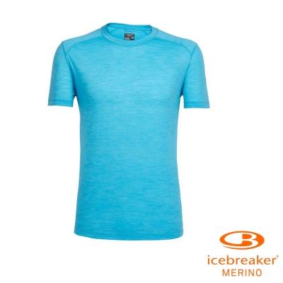 【Icebreaker】男 美麗諾羊毛 COOL-LITE 圓領短袖上衣_淡海藍