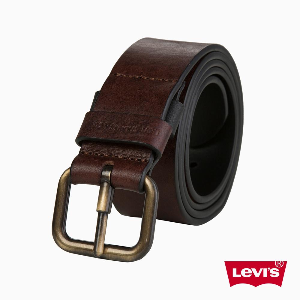 Levis 皮帶 男款 時尚針扣 牛皮皮革