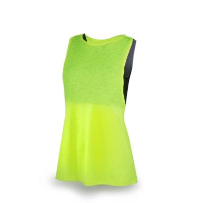 PUMA 女性慢跑系列兩件式運動背心-警示黃