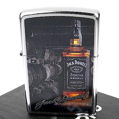 ZIPPO 美系~Jack Daniels威士忌-酒瓶圖案設計打火機