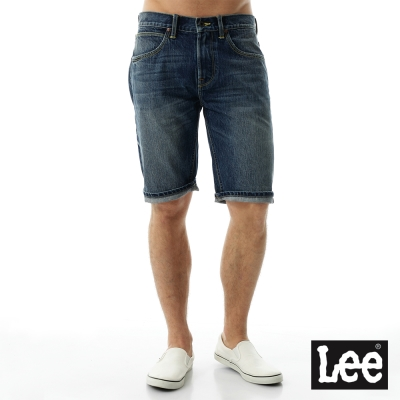 Lee 牛仔褲 牛仔短褲/101+男款-藍