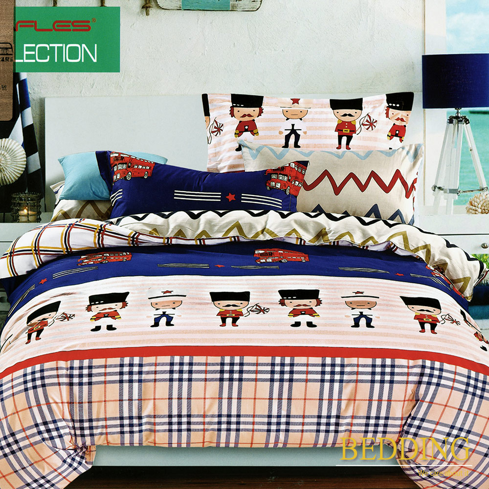 BEDDING  凱旋而歸  100%棉 單人床包枕套 二件式