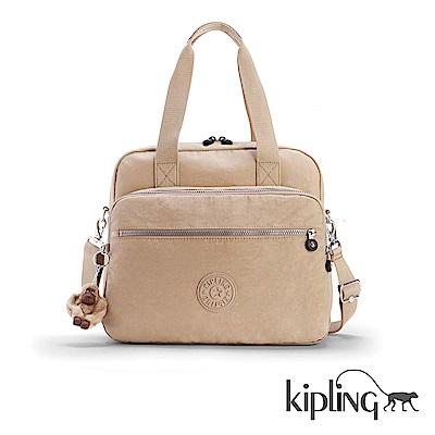 Kipling 手提包 瑪奇朵素面-大