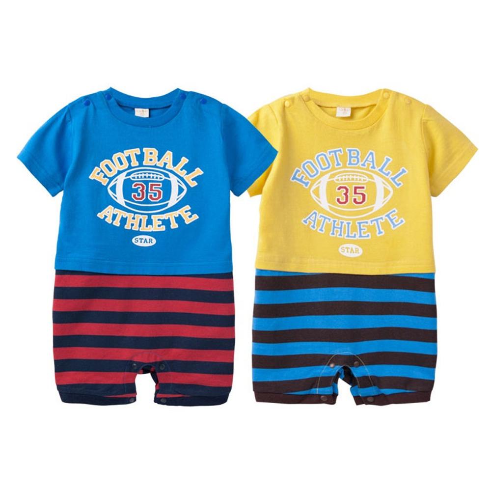 baby童衣 包屁衣 短袖連身衣橄欖球 41133
