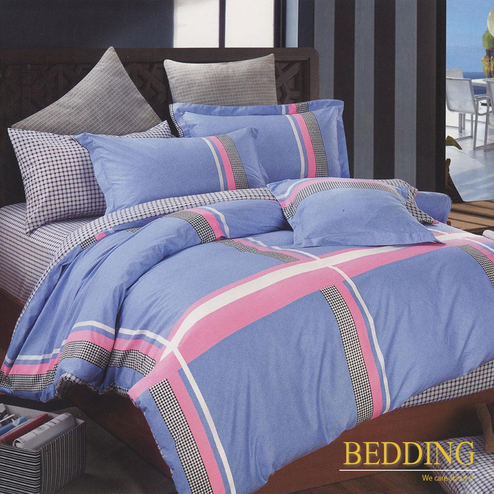 BEDDING 回憶-藍  100%棉 單人床包枕套 二件式
