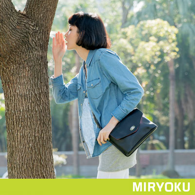 MIRYOKU-質感斜紋系列-精巧質感小信封包-黑