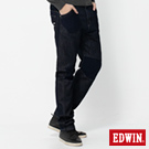 EDWIN 剪接融合 E-F 貼袋機能3D窄直筒牛仔褲-男款(原藍色)
