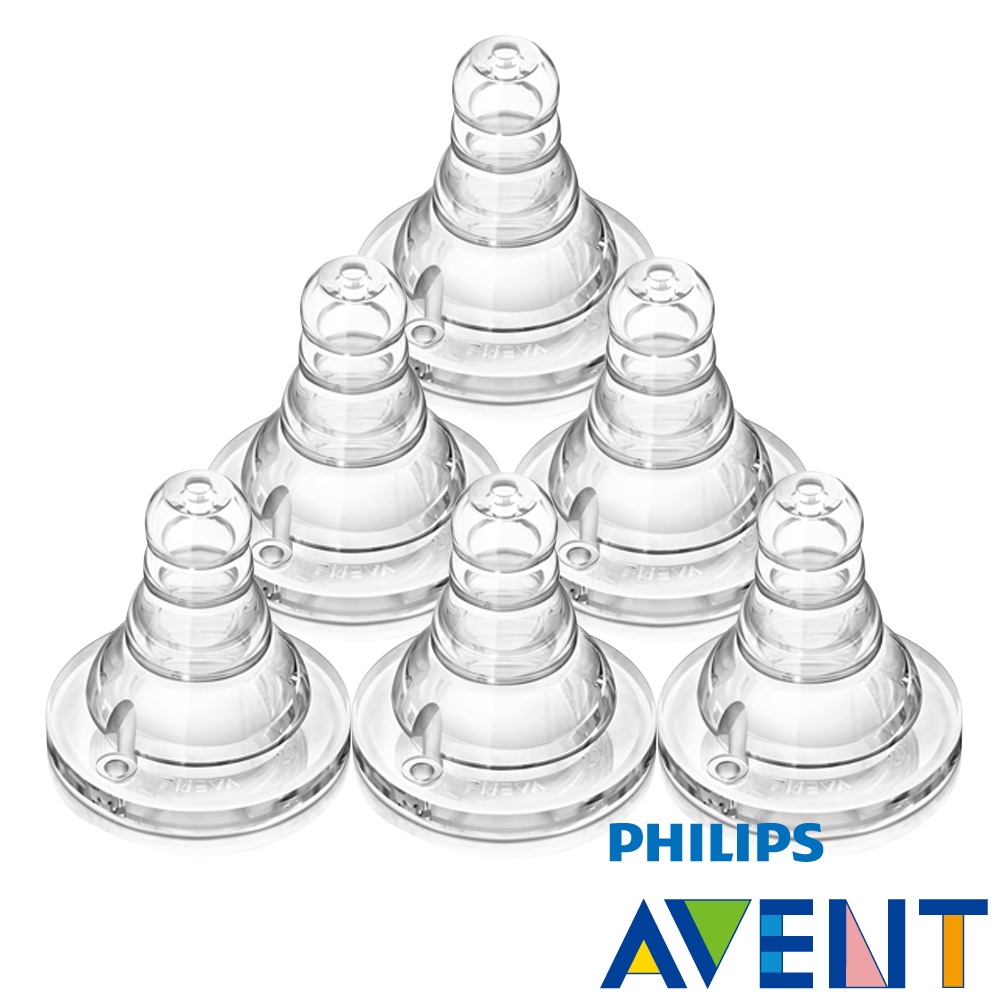 【PHILIPS AVENT】標準口徑防脹氣奶嘴-十字孔(6入)