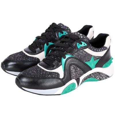 ASH HENDRIX 星星拼接綁帶運動鞋(黑x綠)