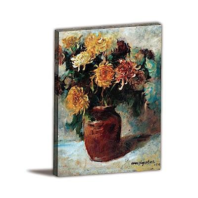 橙品油畫布-單聯式直幅 掛畫無框畫 獨處 30x40cm