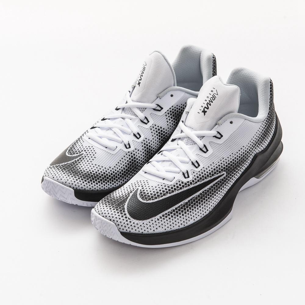 NIKE-AIR MAX INFURIATE男籃球鞋-白黑