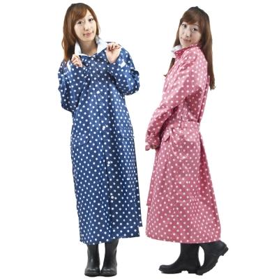 三和牌日式時尚水玉前開式雨衣-one-size-一件入