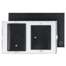 萬寶龍牛皮壓紋名片夾+6卡卡夾禮盒