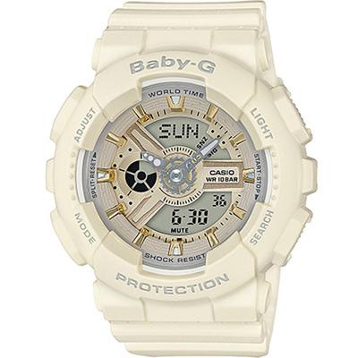 BABY-G-百變時尚運動錶-米白色43-4mm