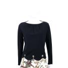 SEE BY CHLOE 黑色花瓣波浪下擺設計長袖上衣