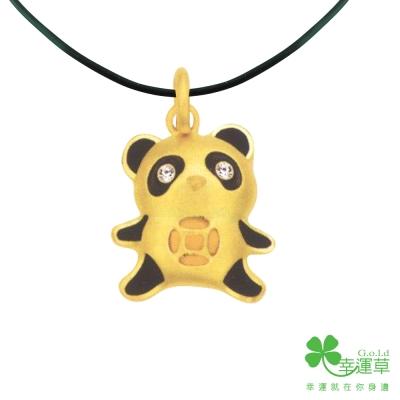 MANSTYLE 國寶黃金墜子 (約1.11錢) (幸運草金飾出品)