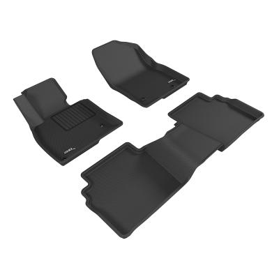 3D 神爪卡固立體踏墊 Mazda 6 2013~2016+ 後座無安全帶護蓋