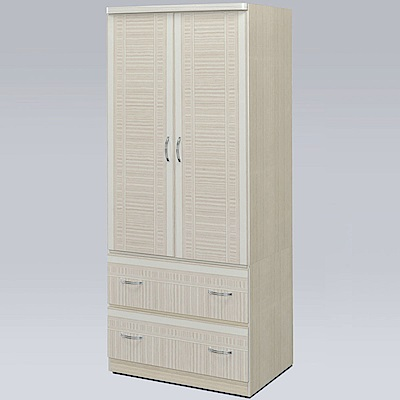 Homelike 溫格2.5x6尺衣櫃(雪松色)-76x54x178cm