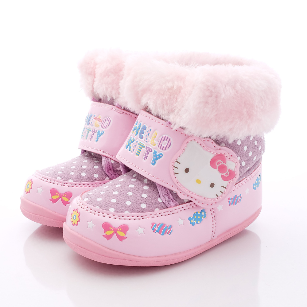 HelloKitty童鞋-繽紛毛毛短靴款-SE16337紫(小童段)HN