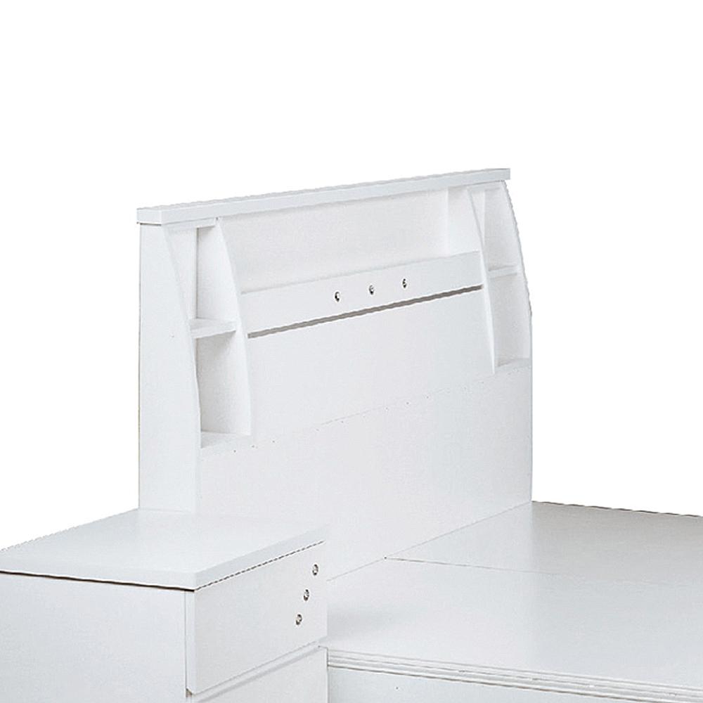 AS-班奈特5尺白色床頭片-154.5x12x101cm