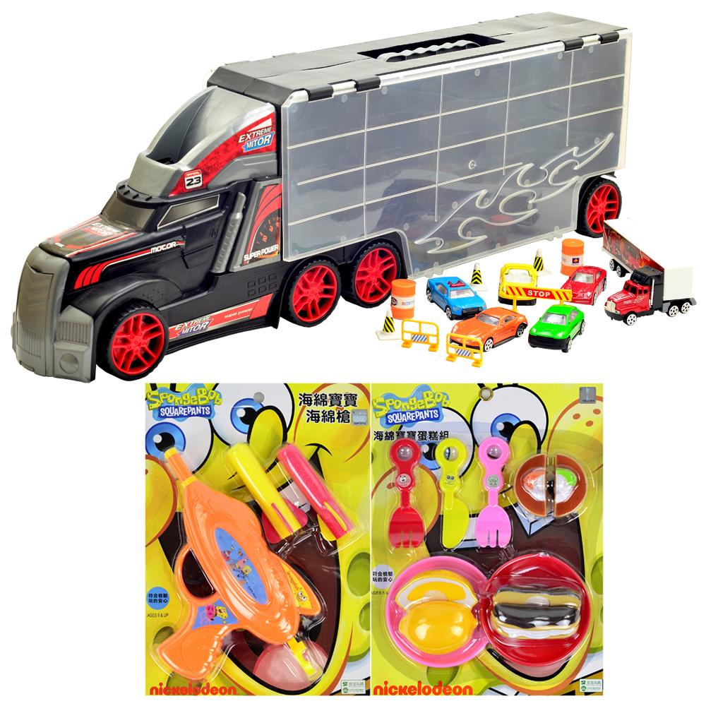 Wheel 1:18活動把手提式貨櫃車收納優惠組