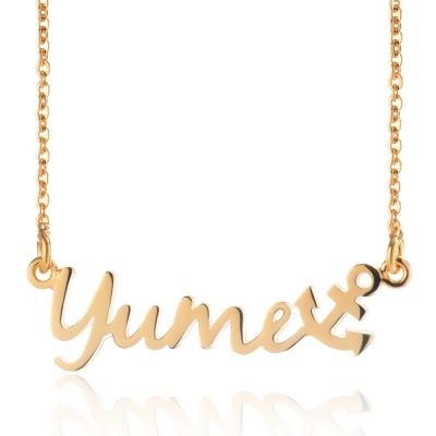 YUME 超迷你船錨英文名字項鍊(6字內)