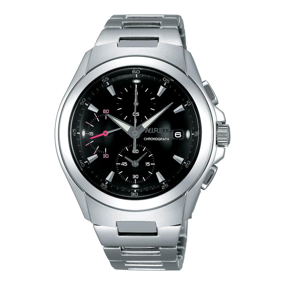 WIRED 急凍人風暴計時腕錶-黑/42mm