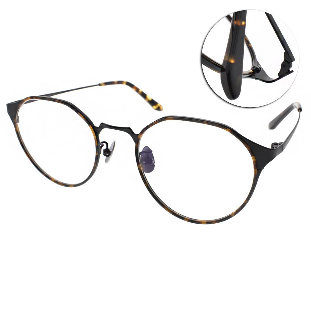 NINE ACCORD眼鏡 造型圓框/琥珀棕-黑#PLACO INTO3 C03