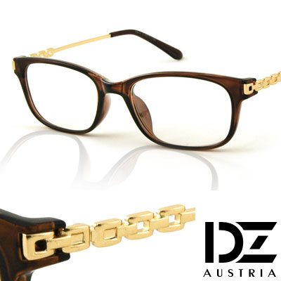 DZ-雅士續方鏈-平光眼鏡-金咖系