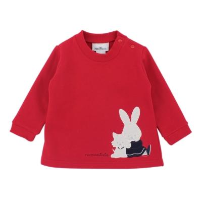 愛的世界 pappa&ciccia 肩扣內磨毛長袖上衣/3~4歲