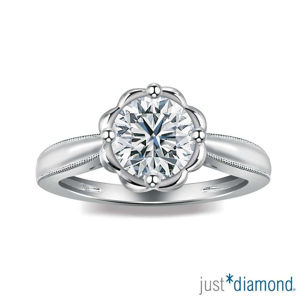 Just Diamond 綻花戀系列 GIA 0.34克拉 鑽石戒指