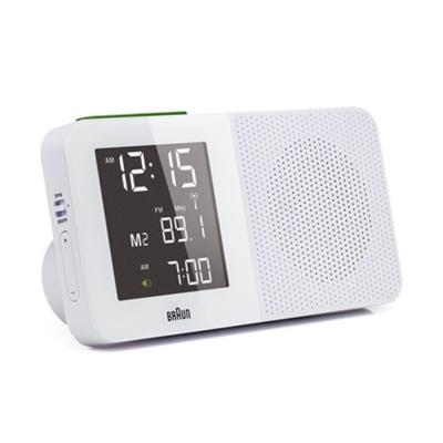 德國BRAUN百靈-電波數位收音機鬧鐘-白(BNC010WH-SRC)