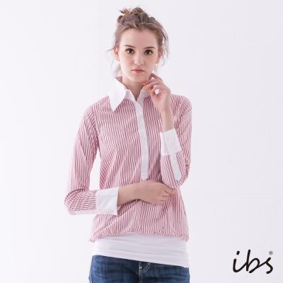 IBS 海洋風條紋襯衫-紅白-女