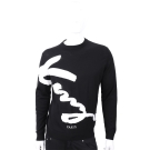 KENZO Signature 黑色草寫字母針織羊毛衫(100%WOOL)