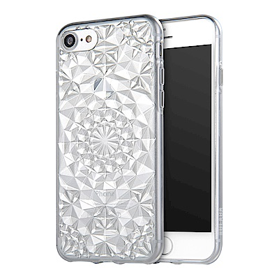 Carlgold 水晶系列 iPhone 7/8 (4.7) 3D立體鑽石紋保謢...