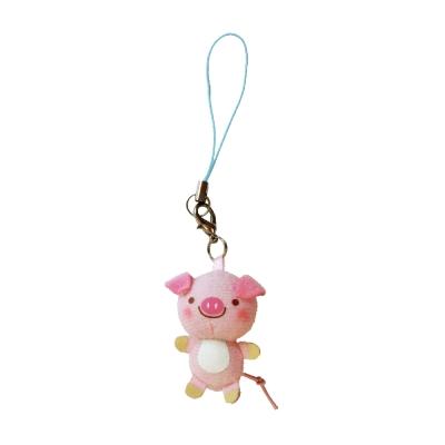 UNIQUE 動物樂園迷你公仔吊飾。粉紅豬