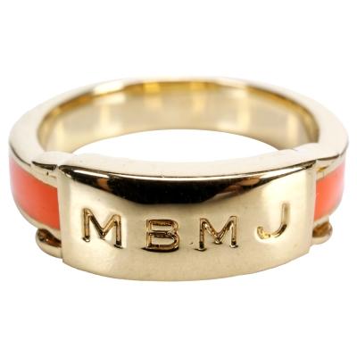 MBMJ Engraved 字母Logo戒指(橘色)