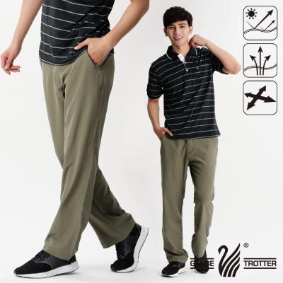 【遊遍天下】男款涼爽超顯瘦彈性吸濕排汗抗UV長褲P131卡其