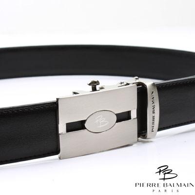 PB 皮爾帕門-二層牛皮 熱銷品 自動扣皮帶