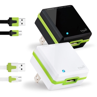 ★E-books B9 AC轉USB快速充電傳輸組