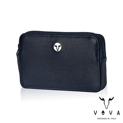 VOVA - 凱旋II系列IV紋拉鍊零錢包 - 深邃藍
