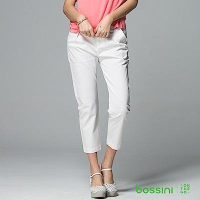 bossini女裝-彈力修身褲01灰白