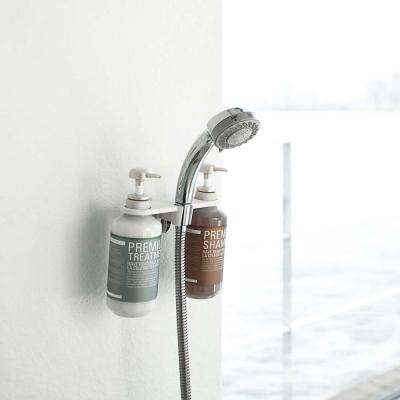【YAMAZAKI】MIST蓮蓬頭圓孔瓶罐收納架-白★衛浴收納/居家收納/置物架