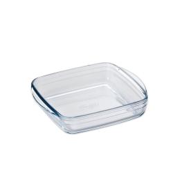 【ADERIA】日本進口方型微波玻璃烤盤(大)